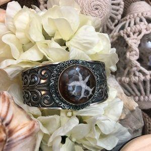 Jewelry - Beautiful Sterling Fossil Cuff